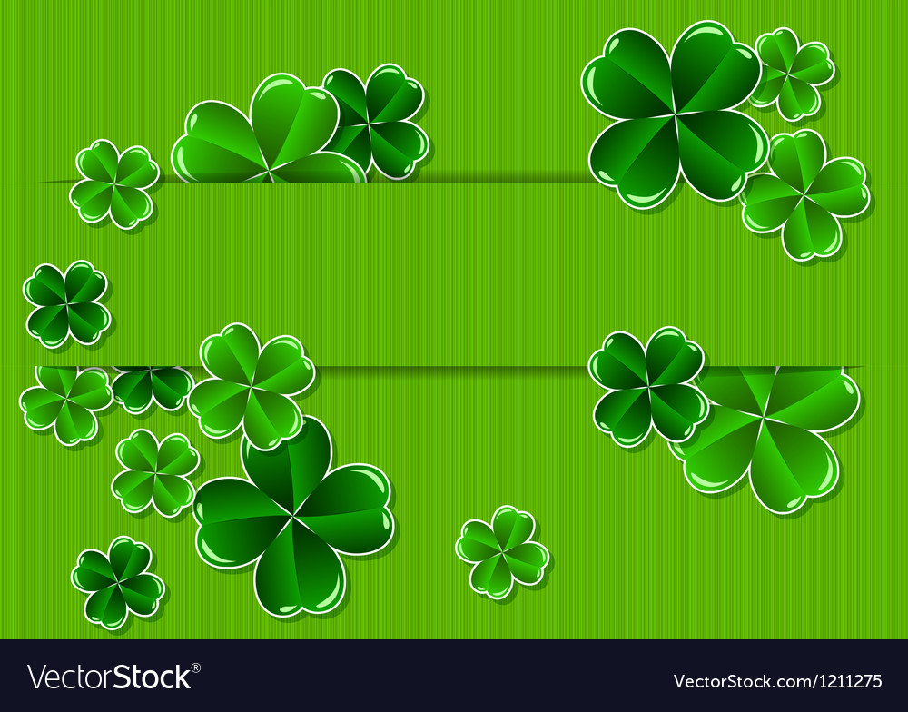 Greeting card st patricks day vector