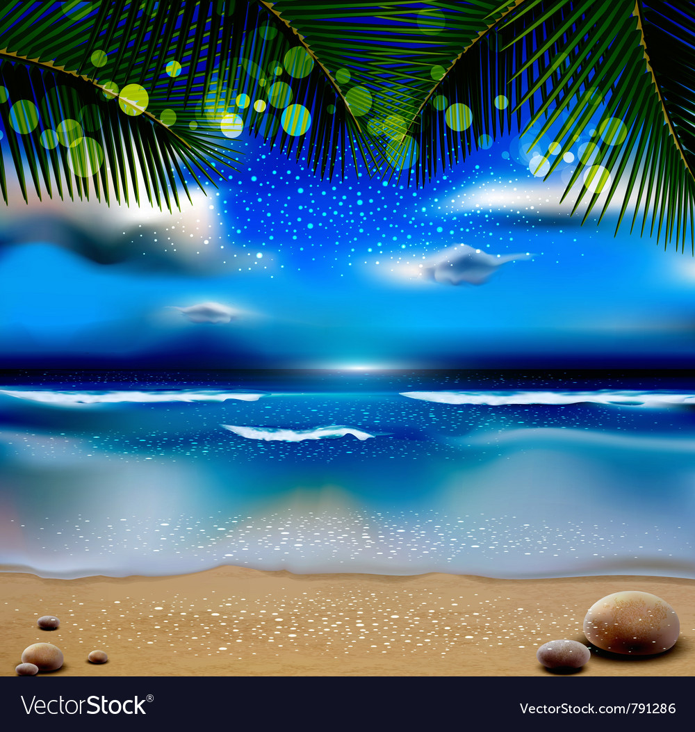 Evening landscape vector