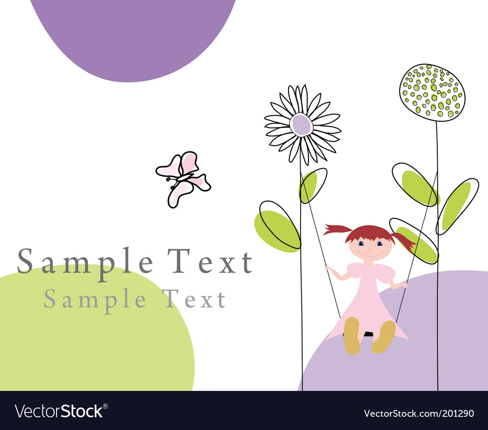 Greetings card vector