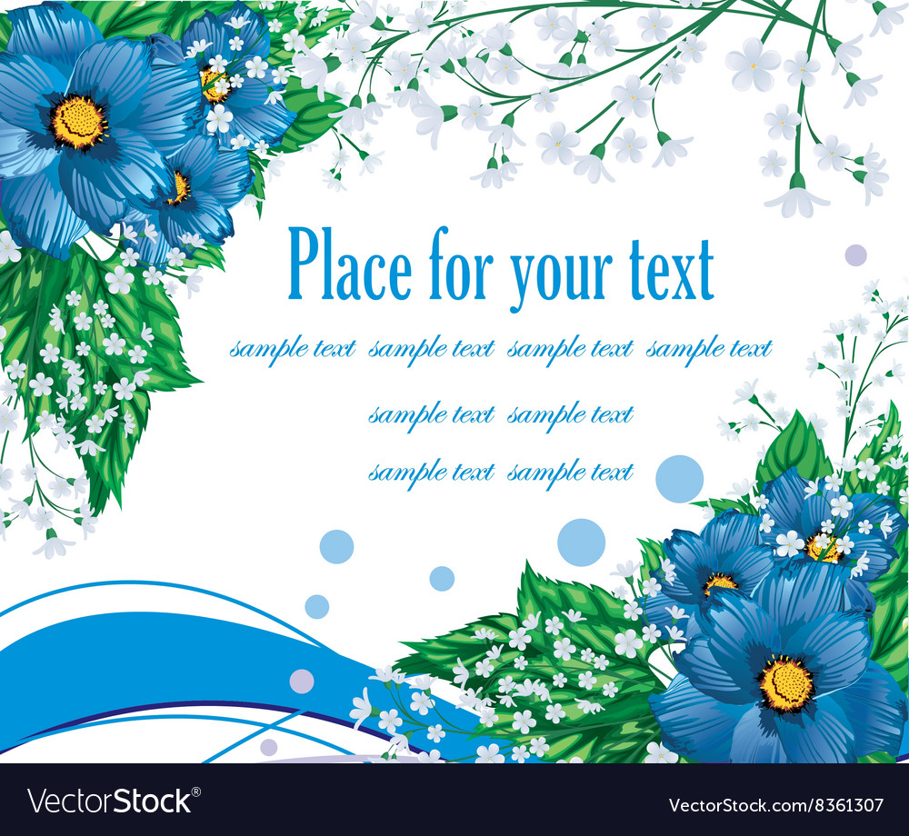Blue Floral Background With Text Space Stock Images Page