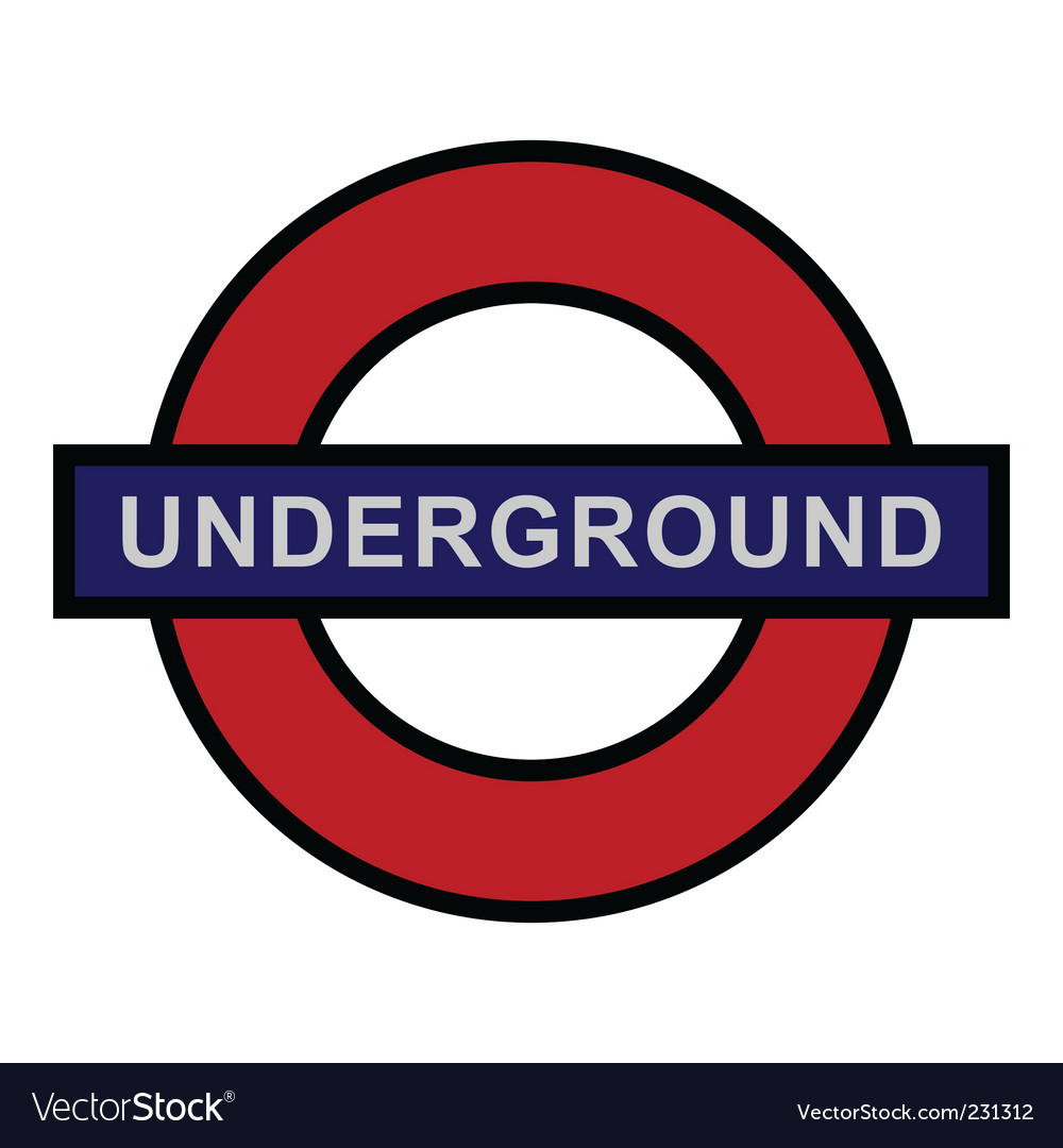 Underground sign vector