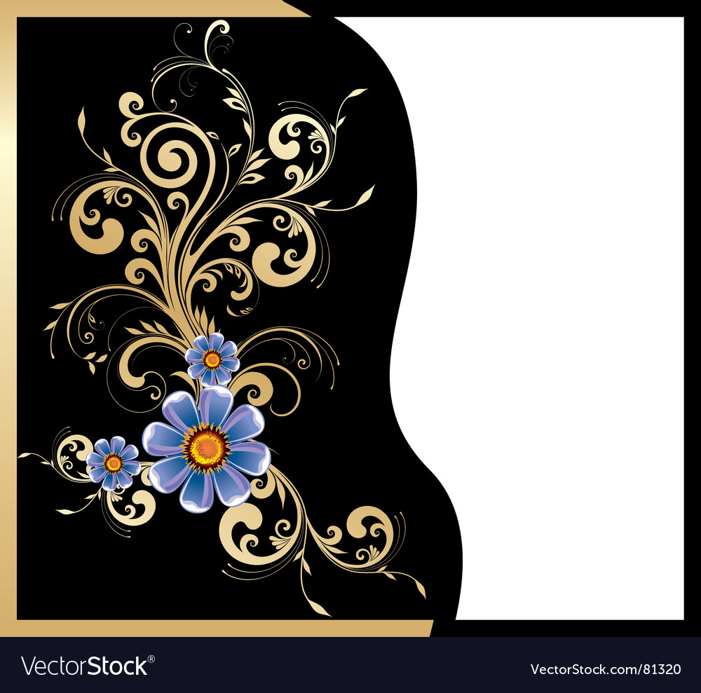 Free gold floral design vector