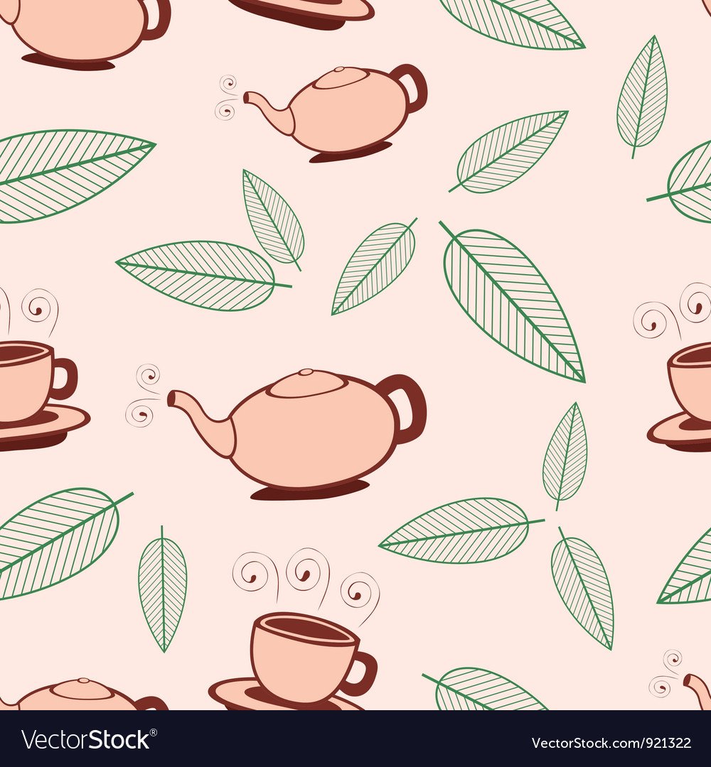 Tea seamless pattern vector