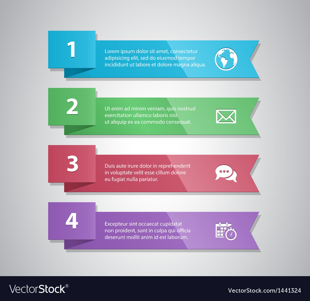 Number options banner vector