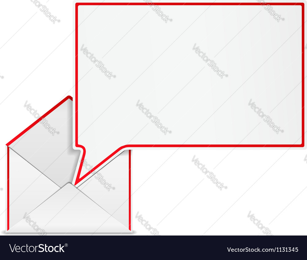 Envelope with speech bubble vector