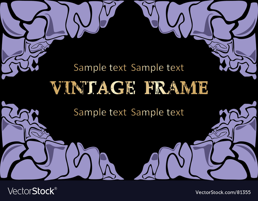 Free abstract frame vector