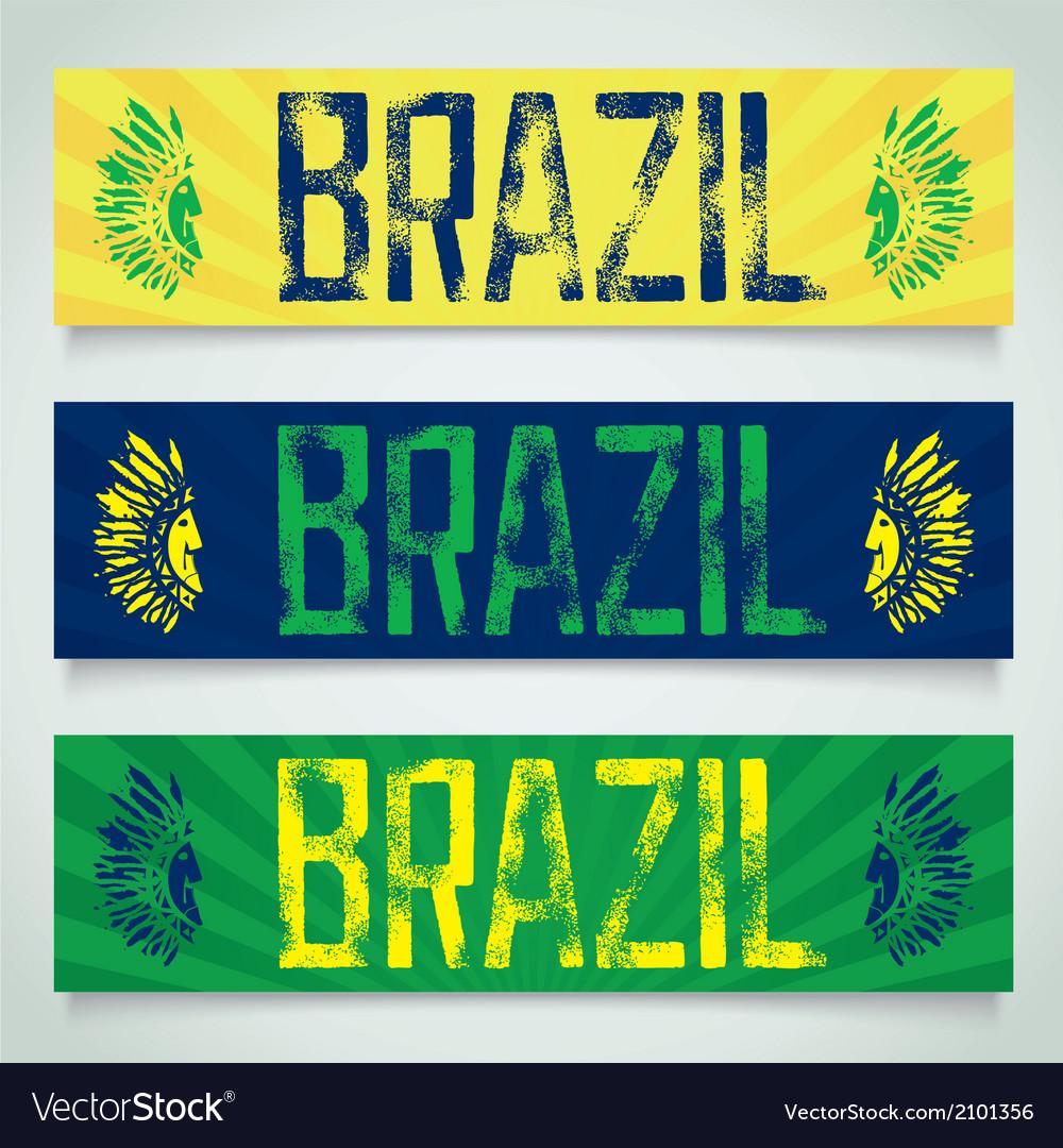Graffiti banner brazil