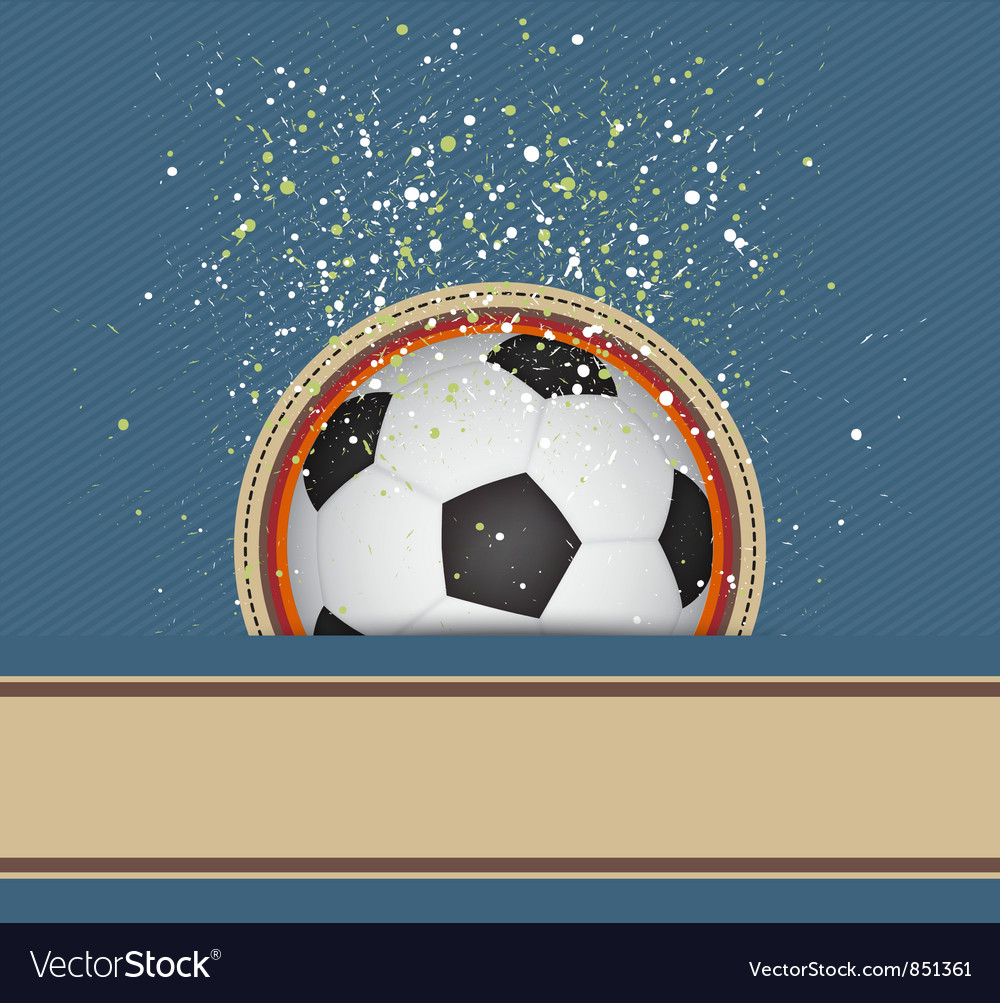 Soccer celebrate background vector