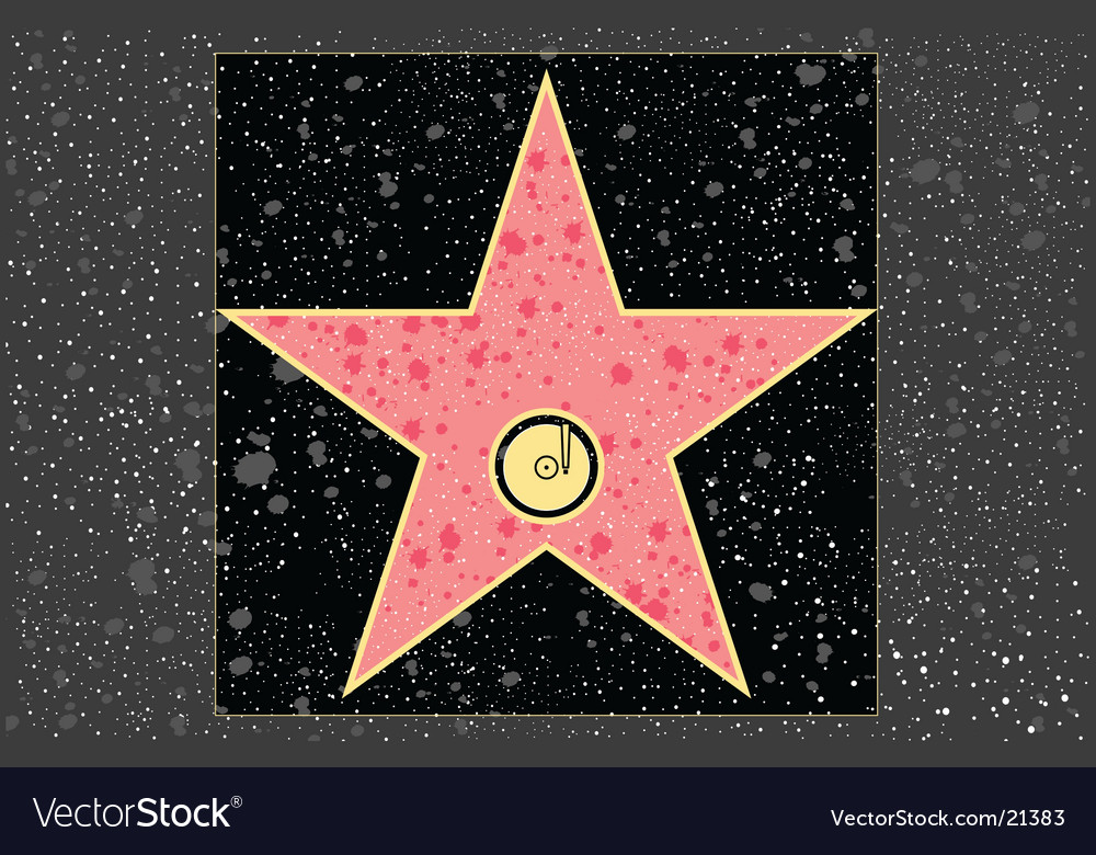 Recording star vector
