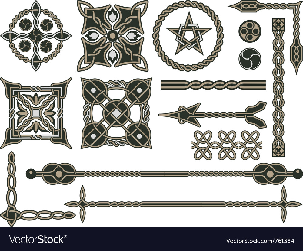 Celtic traditional elements vector