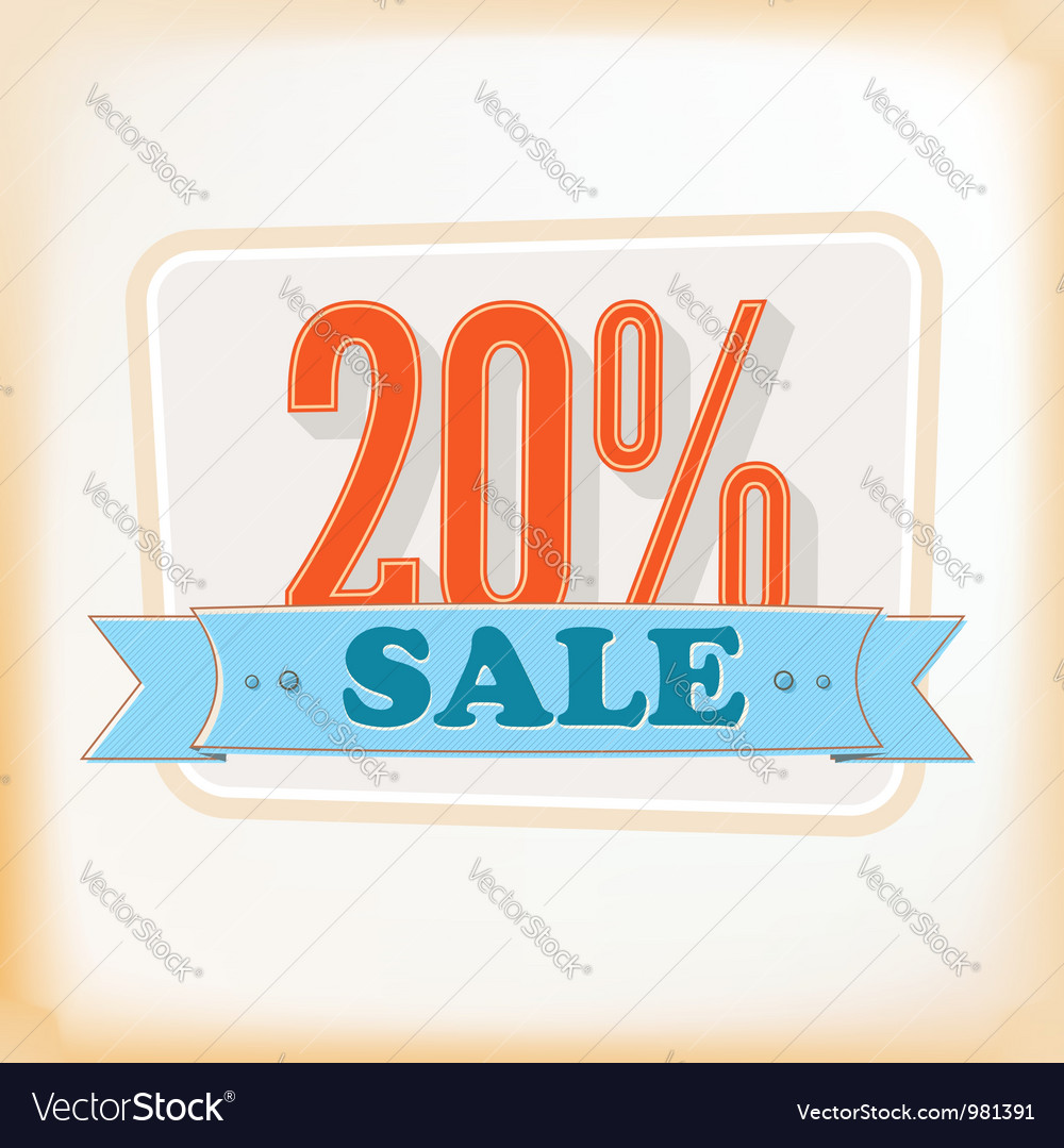 Discount labels 20 vector