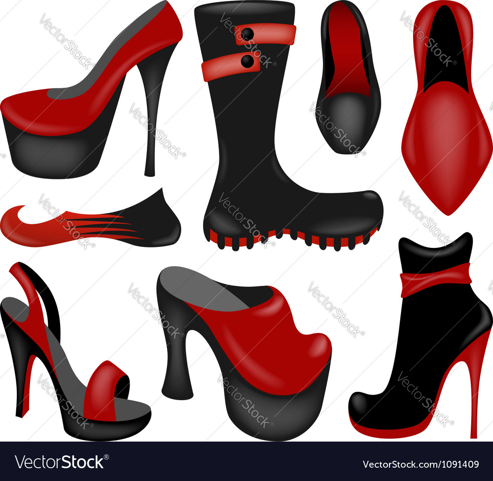 Footwear collection vector