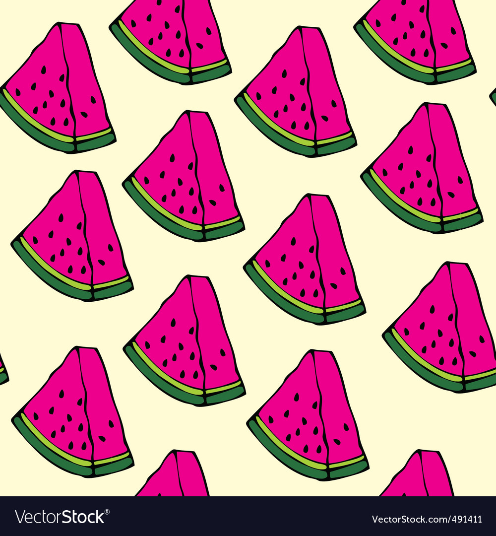Pieces of watermelon vector