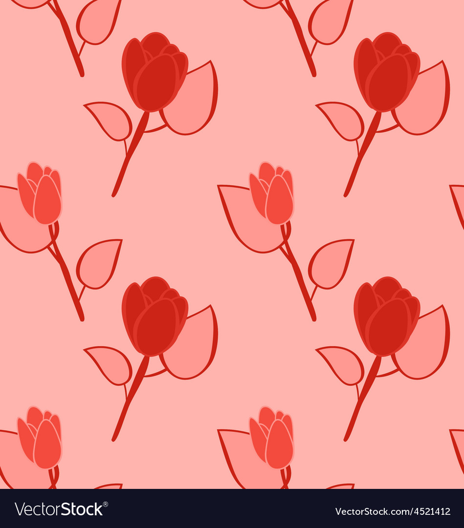 Seamless pattern with flowers background with