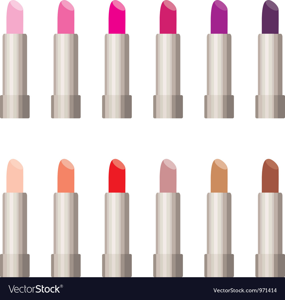 Lipsticks vector