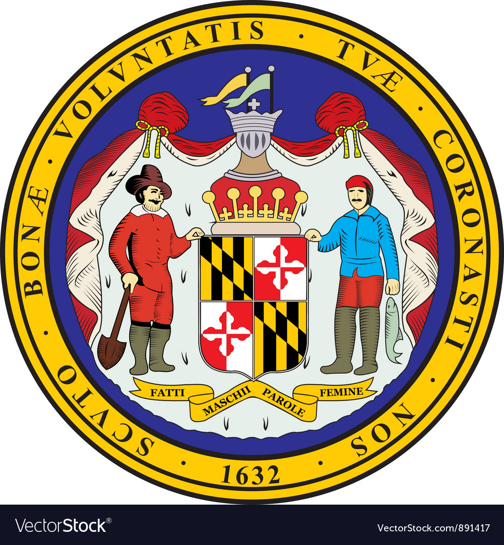 Maryland seal vector