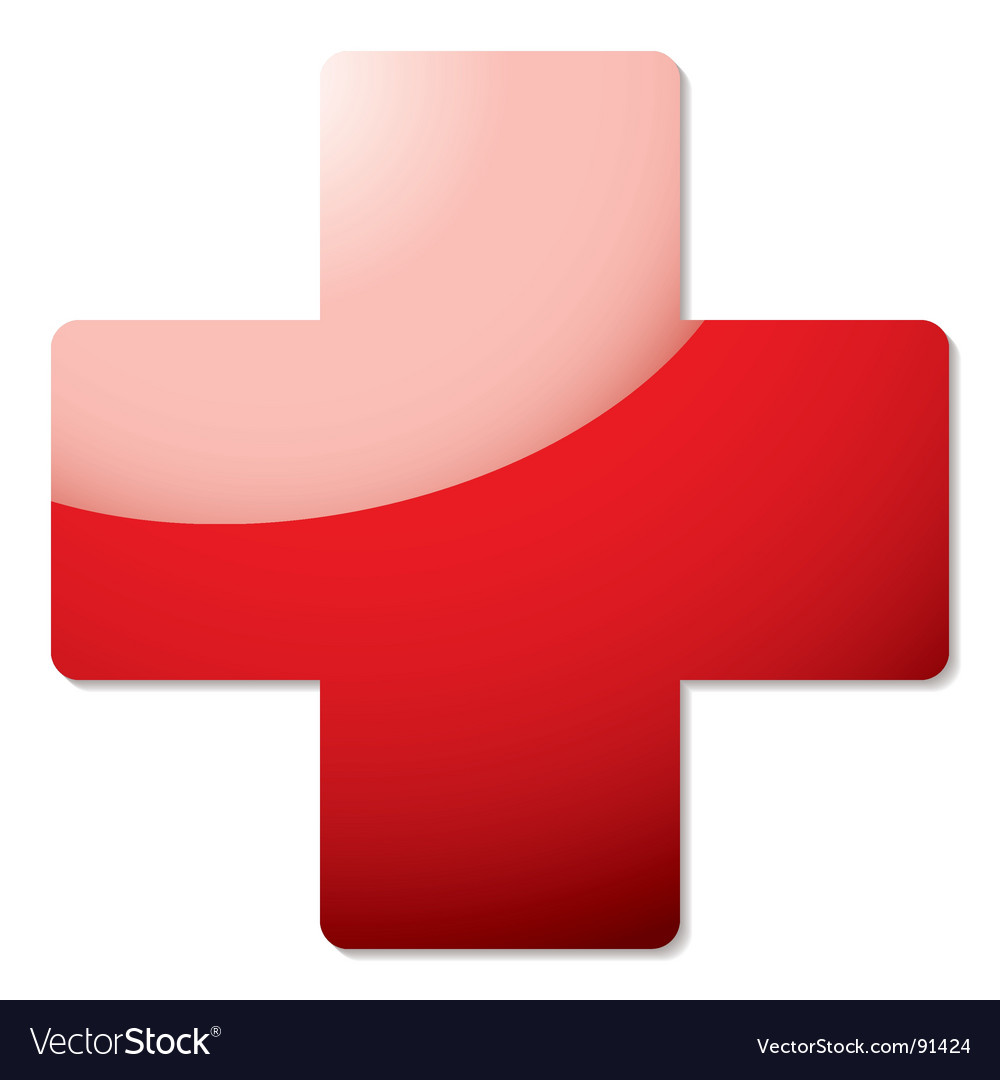 Red cross symbol vector