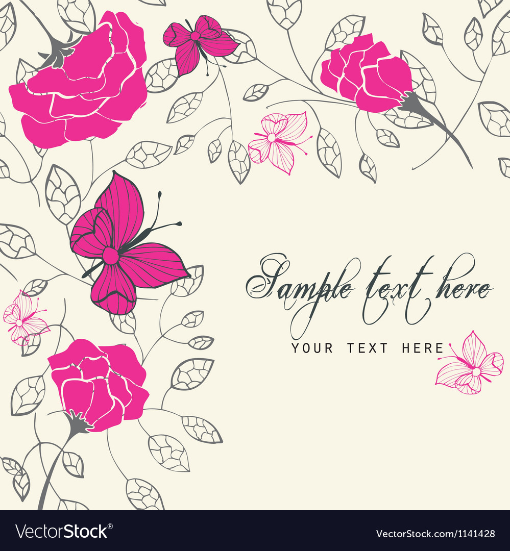 Rich floral card vector