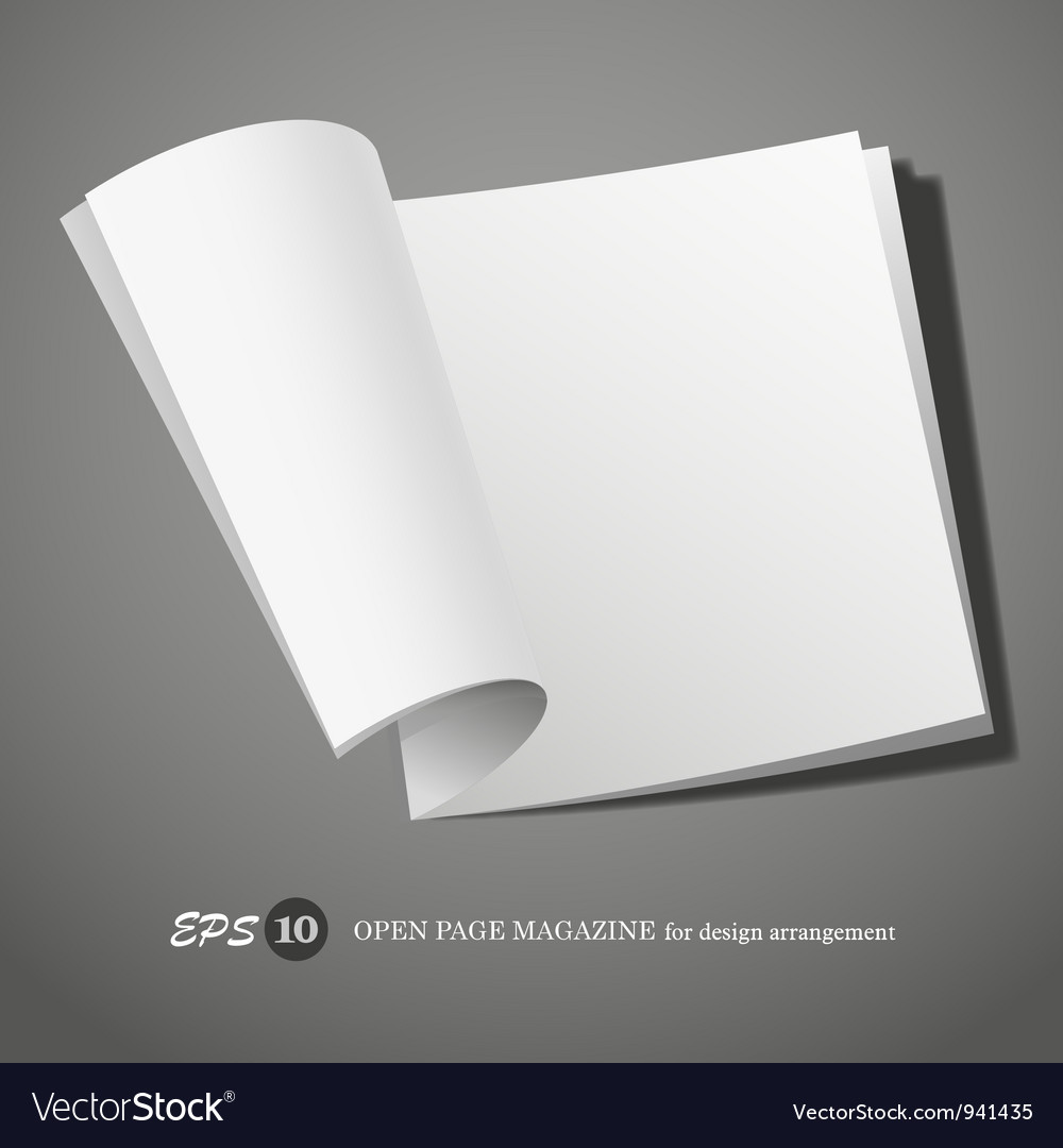 Open page magazine vector