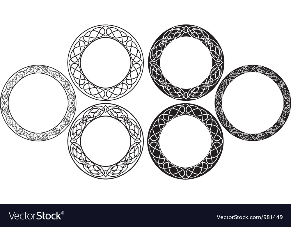 Celtic circle vector