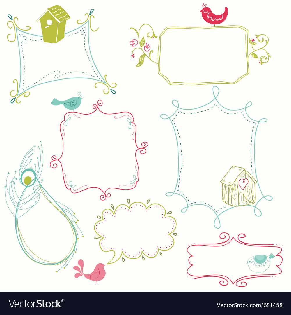 Cute Doodle Frames Pictures to pin on Pinterest