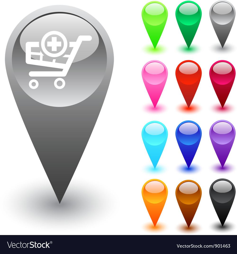 Add to cart button vector