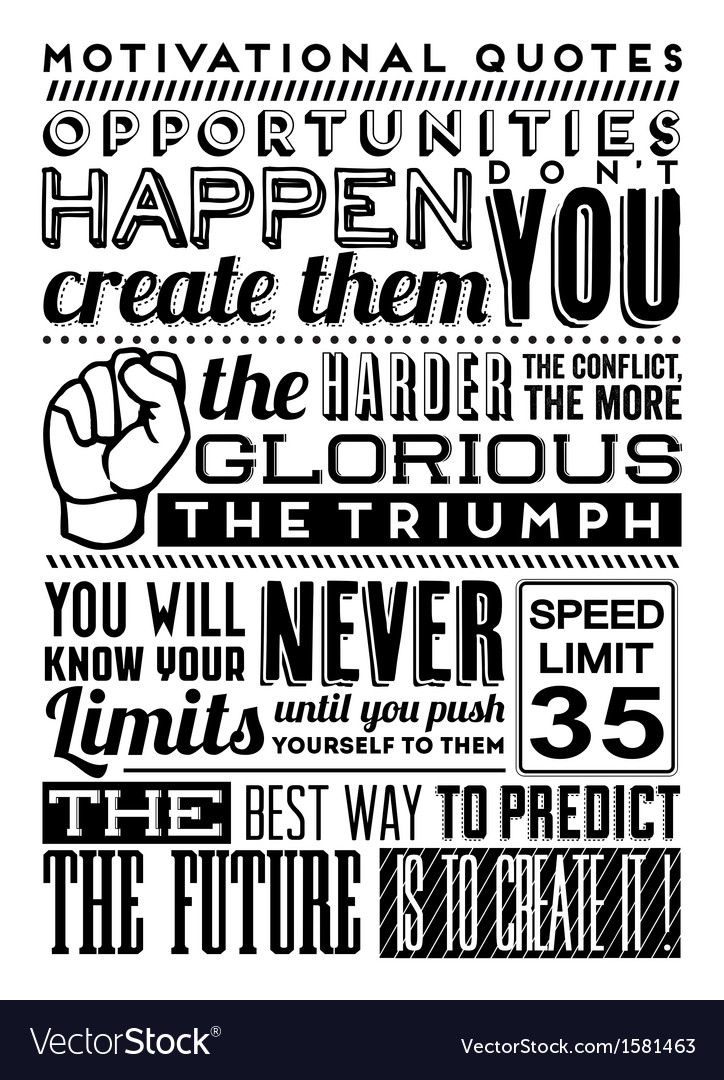 set of retro vintage motivational quotes vector by