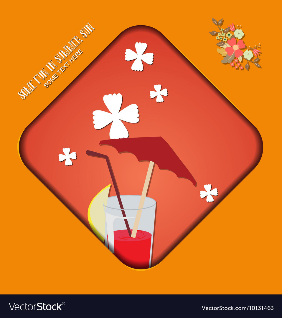 With summer and summer drink