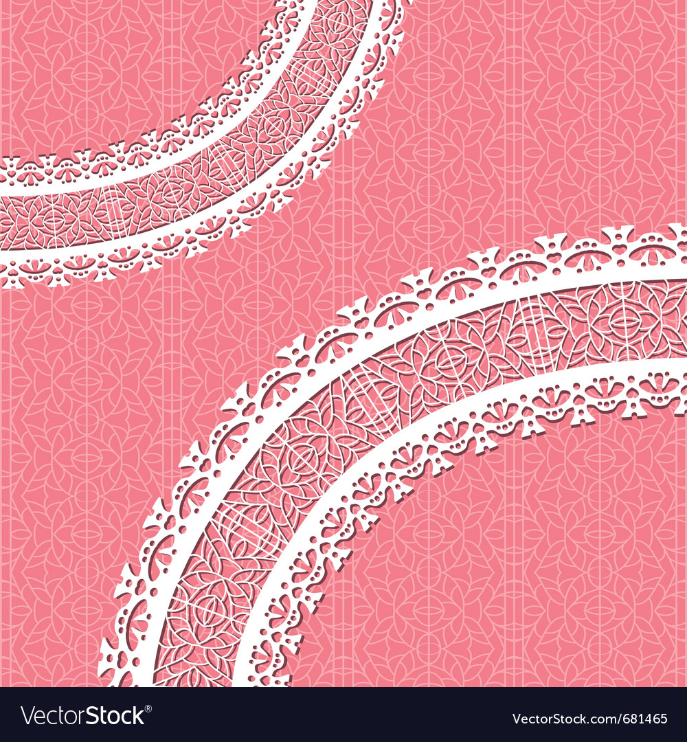 Ornamental lace background vector