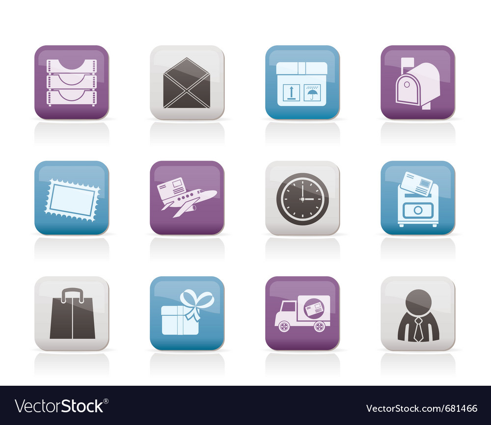 Correspondence and office icons vector