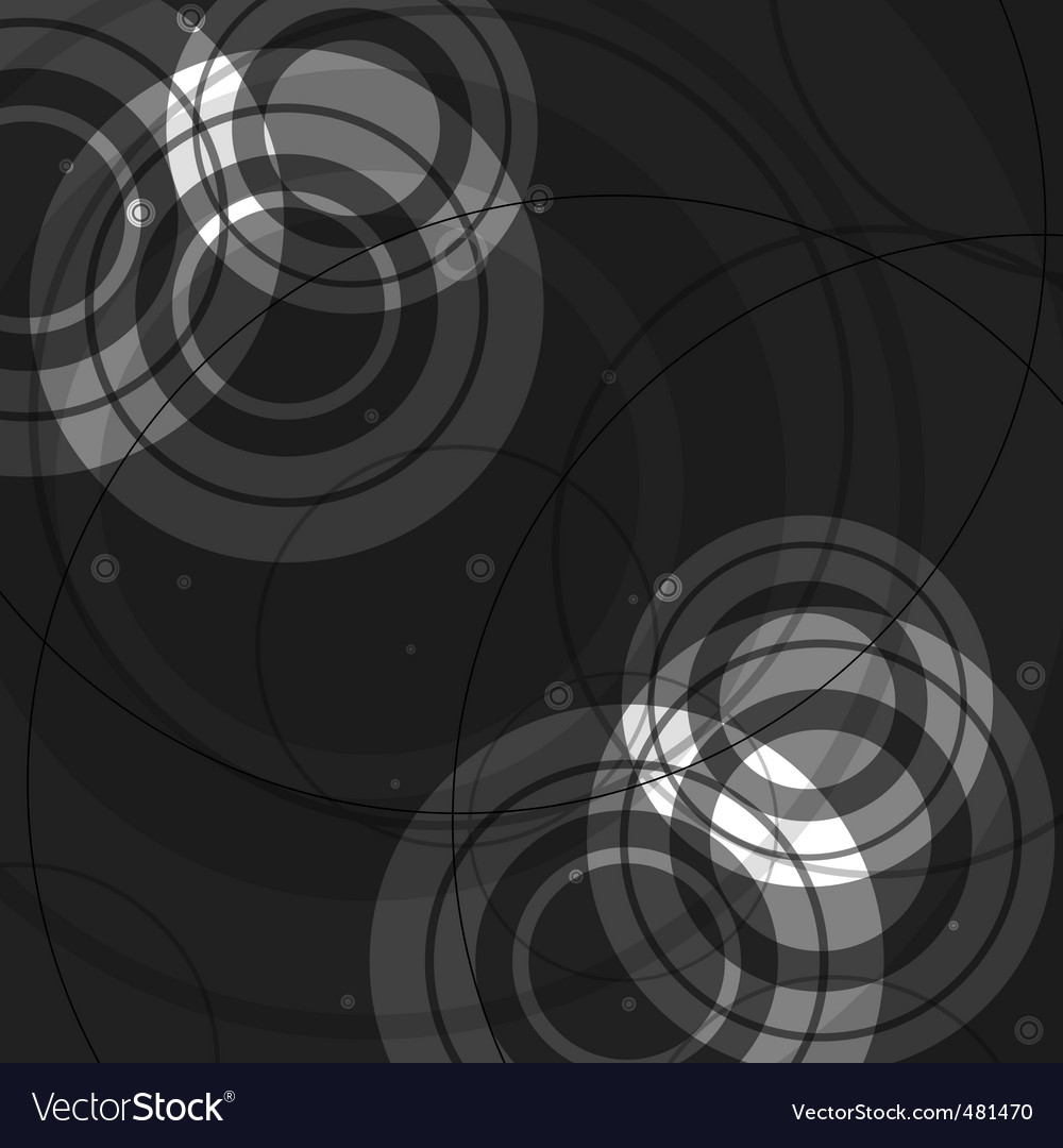 Abstract circles design vector