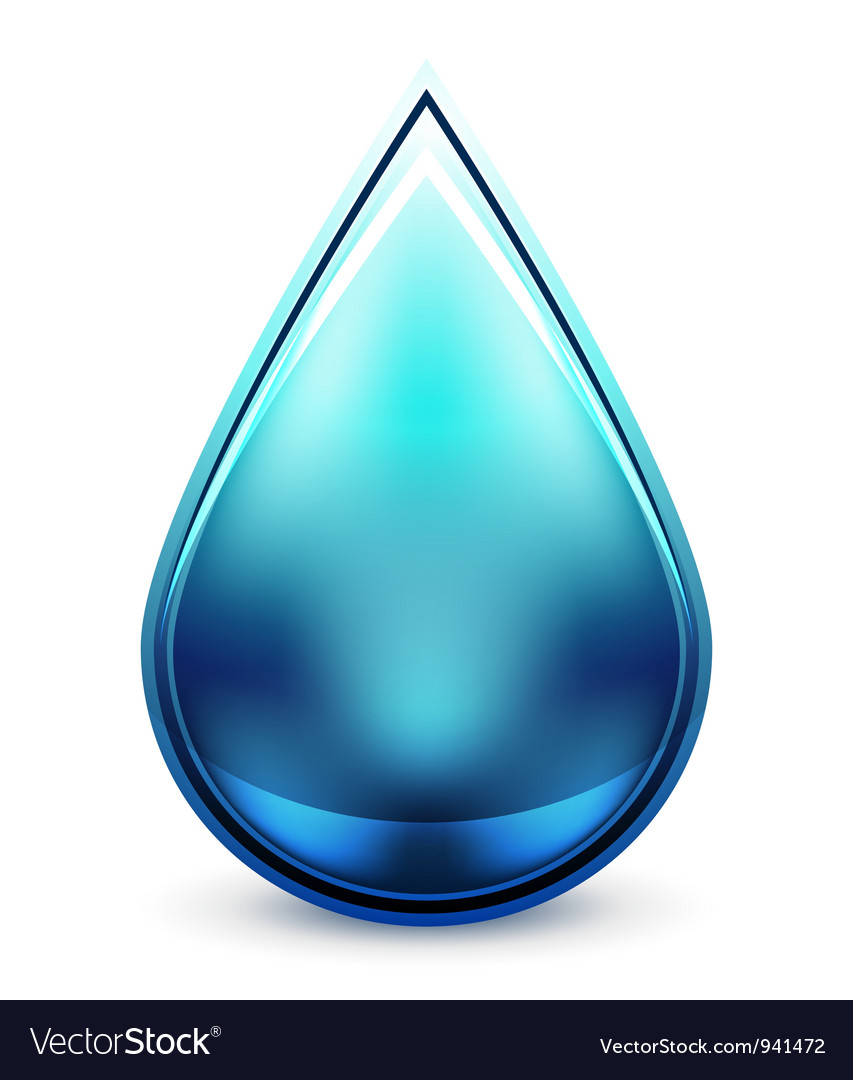 Hitech water drop icon vector