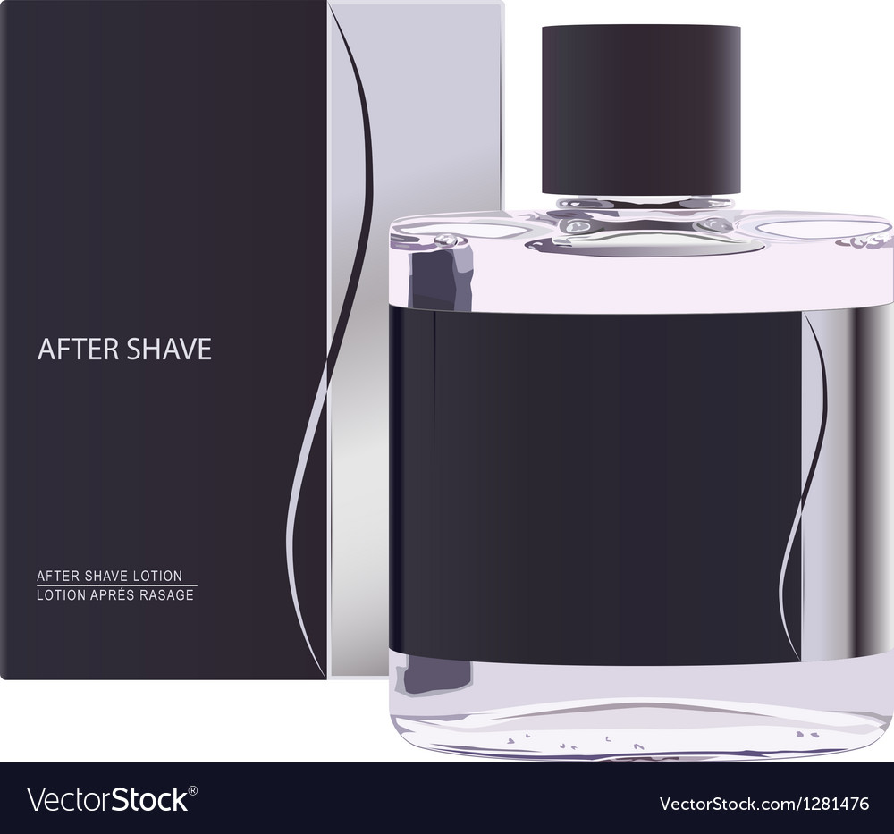 After shave lotion vector