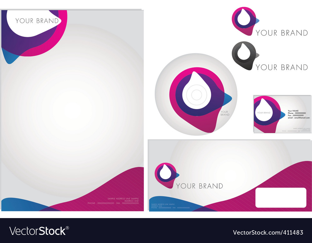 Corporate identity designs vector