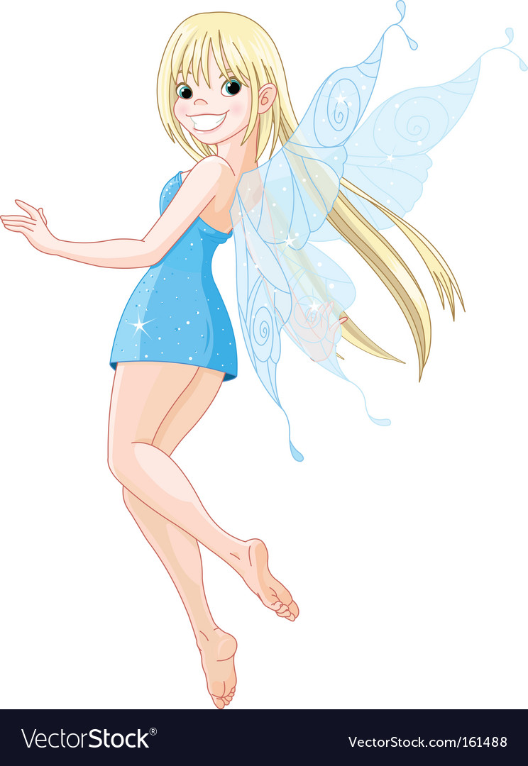 Cartoon fairy vector by Dazdraperma - Image #161488 - VectorStock Beautiful Fairy Pictures