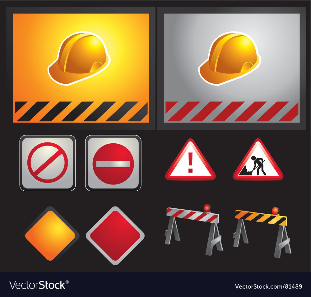 Constructions signs vector