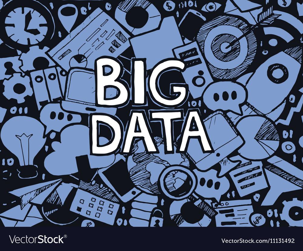 Big data doodle sketch