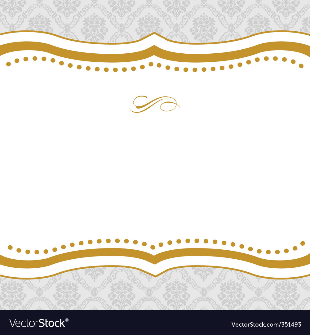 Gold background vector by vectormikes - Image #351493 - VectorStock Vintage Border Vector
