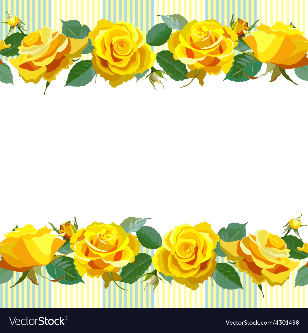 Floral background with yellow roses vector by sam2211