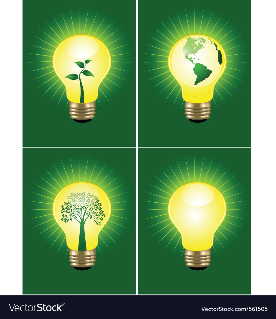 Eco bulb collection vector