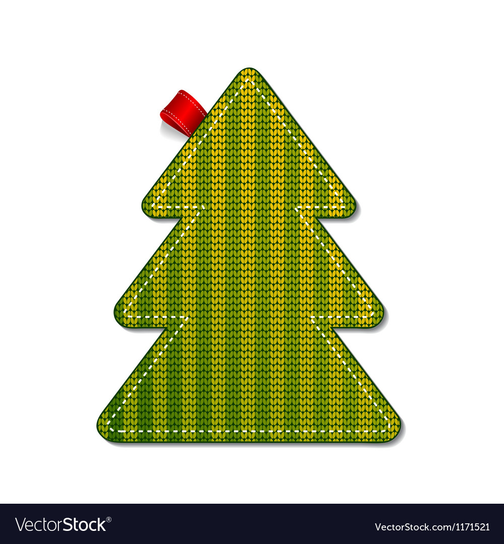 Knitted pine tree vector
