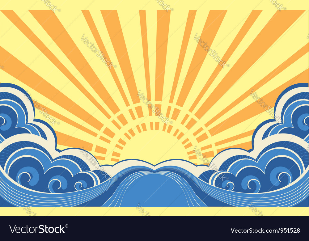Sunscapeabstract nature image vector