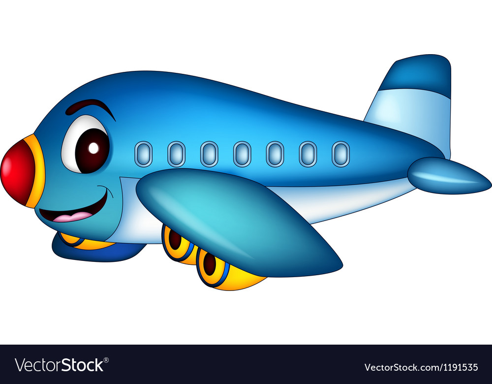 Cartoon Airplane Flying cartoon airplane flying vector by ayoeb ...