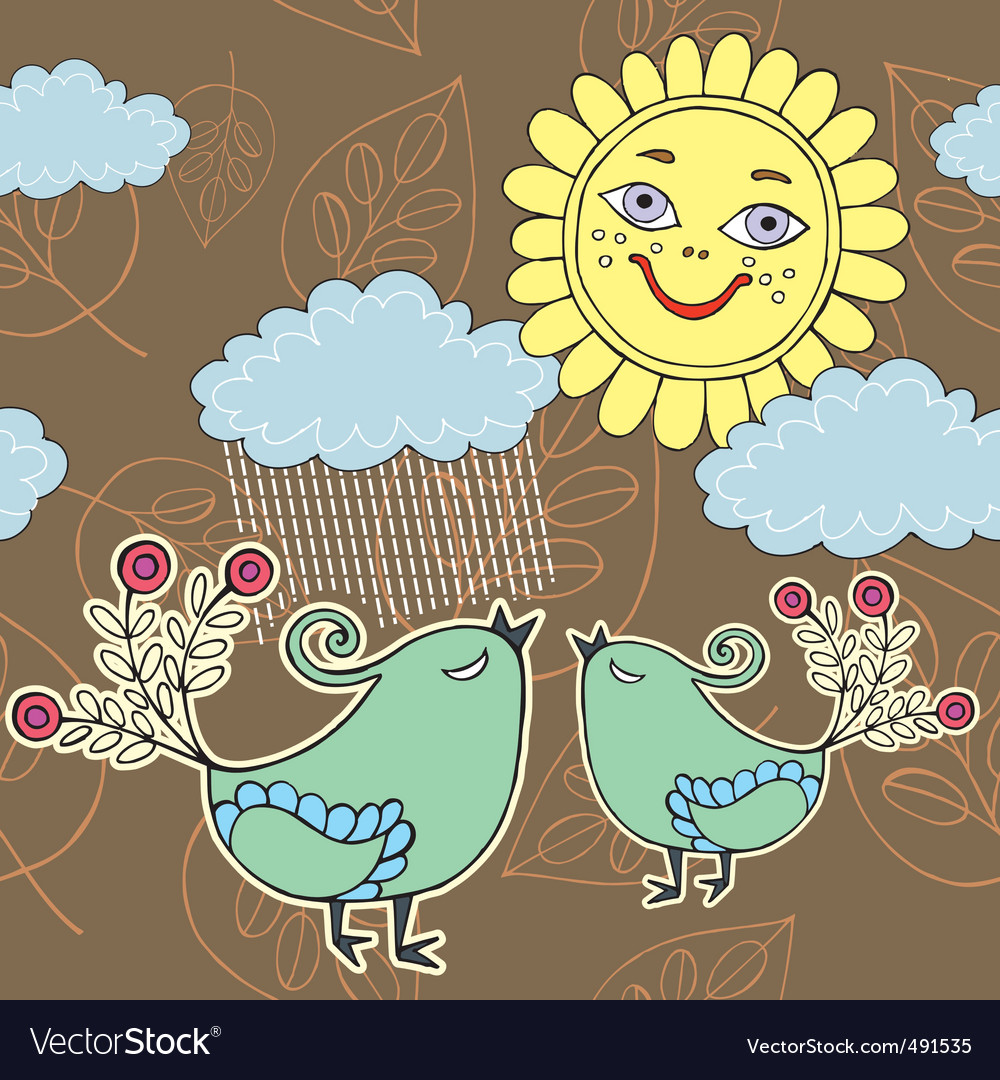 Sunshine weather with rain vector