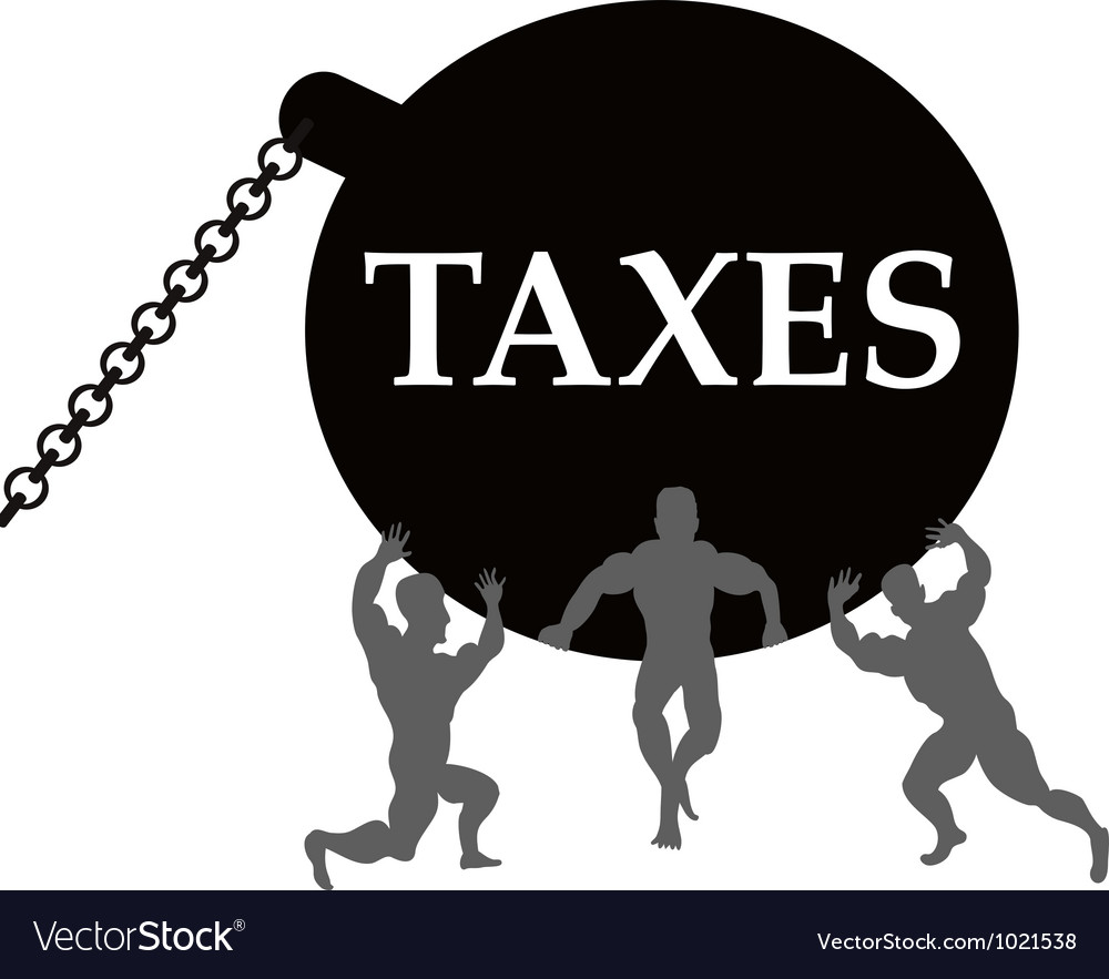 Taxes burden vector