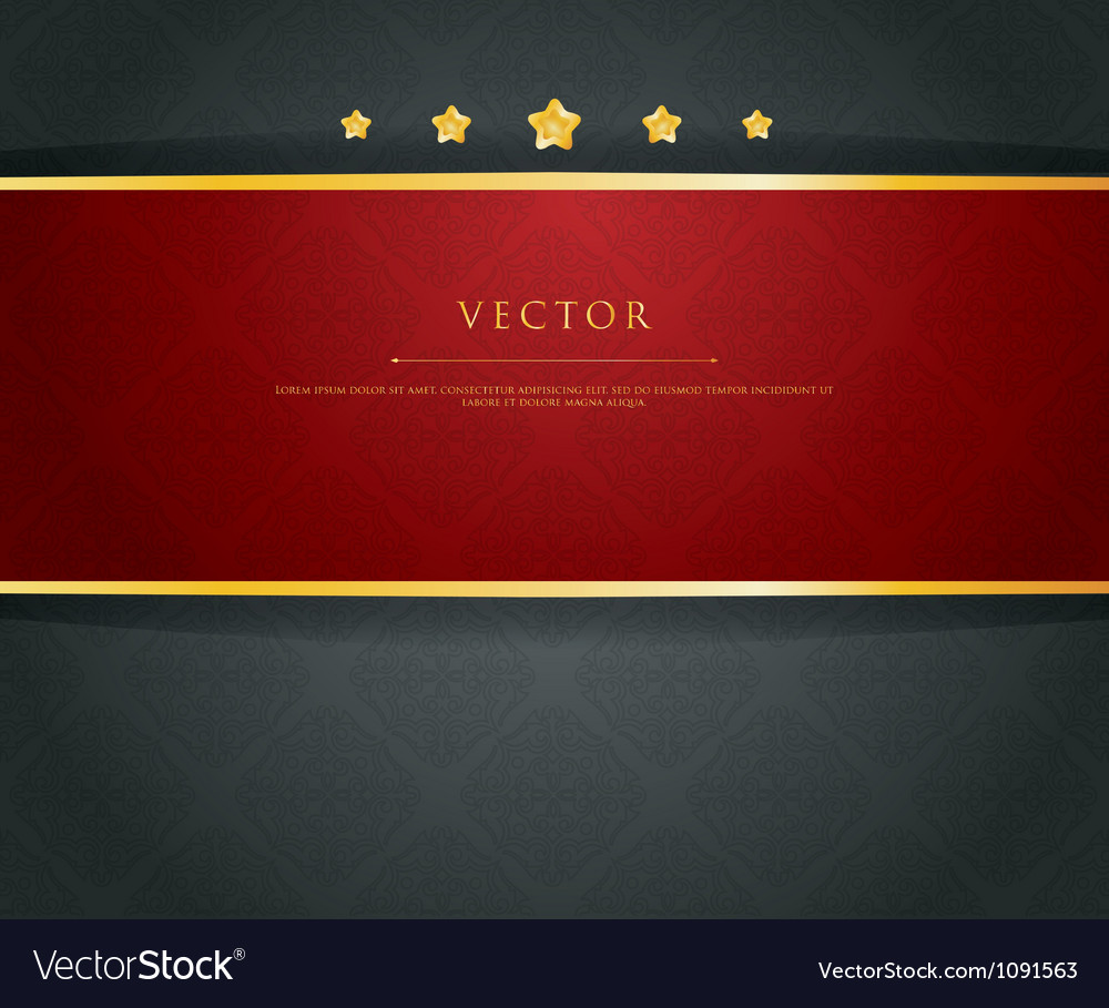 Ribbon vintage vector
