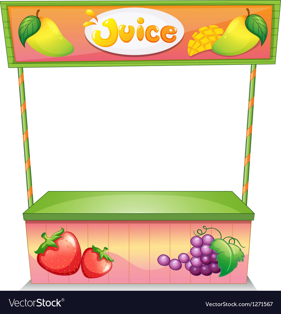A fruit vendor stall vector