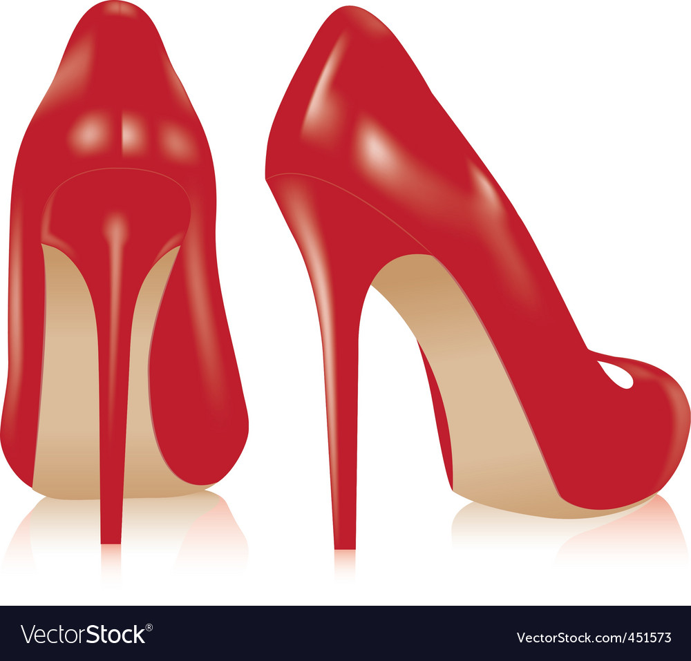 Pair of high heel shoes vector