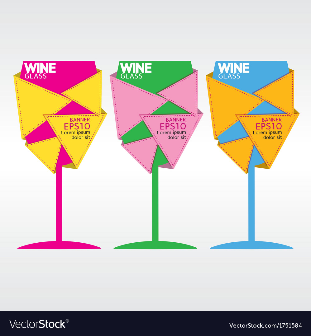 Glass of wine eps10 vector