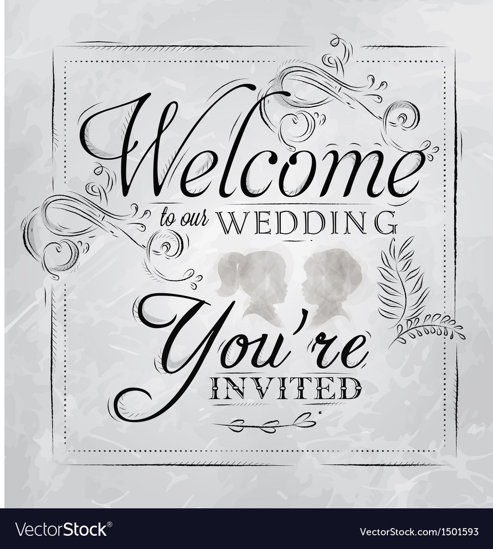 Wedding invitation coal vector
